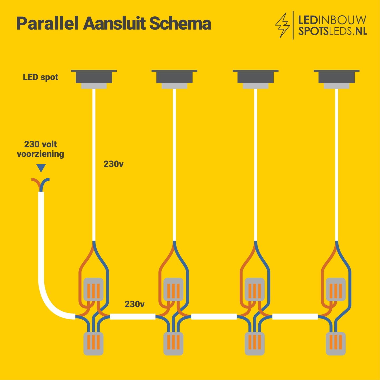 Parallel aansluit schema zonder trafo