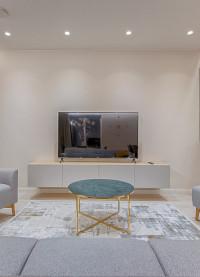 LED inbouwspots boven de TV