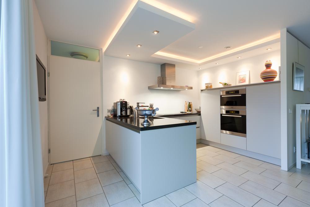 Keuken led inbouwspots t.b.v. een kook eiland