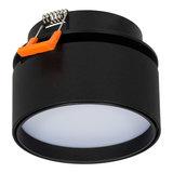 Dimbare LED Inbouw Spot 230 Volt Draaibaar Zwart_