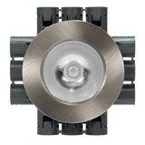 LED Opbouw Spot Dimbaar Badkamer Geschikt IP 44 Extra Warm Wit 2700 Kelvin 7 Watt vervangt 100 Watt Voor Ronde Centraaldoos Opbouw Hoogte ↕ 20 mm Nikkel_