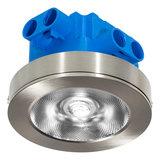 LED Opbouw Spot Dimbaar Badkamer Geschikt IP 44 Extra Warm Wit 2700 Kelvin 7 Watt vervangt 100 Watt Voor Vierkante Centraaldoos Opbouw Hoogte ↕ 20 mm Nikkel_