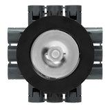 LED Opbouw Spot Dimbaar Badkamer Geschikt IP 44 Extra Warm Wit 2700 Kelvin 7 Watt vervangt 100 Watt Voor Ronde Centraaldoos Opbouw Hoogte ↕ 20 mm Zwart_