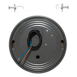 LED Opbouw Spot Dimbaar Badkamer Geschikt IP 44 Extra Warm Wit 2700 Kelvin 7 Watt vervangt 100 Watt Opbouw Hoogte ↕ 20 mm Grijs_