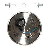 LED Opbouw Spot Dimbaar Badkamer Geschikt IP 44 Extra Warm Wit 2700 Kelvin 7 Watt vervangt 100 Watt Opbouw Hoogte ↕ 20 mm Nikkel_
