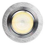HUE Philips Ambiance GU10 LED Inbouwspot Inês Aluminium Geborsteld_