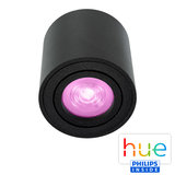 HUE Philips White & Color GU10 LED Opbouwspot Rome Zwart_