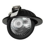 Draaibare & Kantelbare Inbouw LED Spot Dimbaar Zwart_