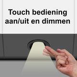 """Set van 4 stuks """"Touch Functie"""" cabinet Inbouw LED spot Dimbaar Zwart _"""
