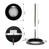 """Set van 5 stuks """"Touch Functie"""" cabinet Inbouw LED spot Dimbaar Zwart _"""