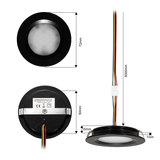 """Set van 6 stuks """"Touch Functie"""" cabinet Inbouw LED spot Dimbaar Zwart _"""
