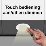 """Set van 5 stuks """"Touch Functie"""" cabinet Inbouw LED spot Dimbaar Wit_"""