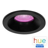 HUE Philips White & Color GU10 LED Inbouwspot Lais Zwart_