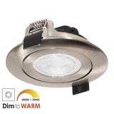 230 Volt Stijlvolle Design Inbouw LED Spot Dimbaar Nikkel_