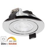 230 Volt Stijlvolle Design Inbouw LED Spot Dimbaar Chroom_