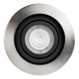 Philips LED Inbouw spot 5 watt kantelbaar 50 mm rond zwart met aluminium geborsteld_