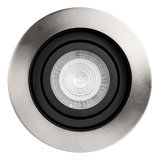Philips LED Inbouw spot 4 watt kantelbaar 50 mm rond zwart met aluminium geborsteld_