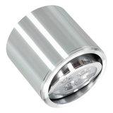 Dimbare cilinder vormige LED opbouw spot 3 watt in zilver / chroom behuizing._