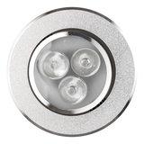 Dimbaar LED inbouwspot 3 watt zilver kantelbaar warm wit_