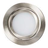Dimbare 3 watt Extreem lage ronde (15 mm) mini led inbouw spot in zilveren behuizing, IP44 ook voor in de badkamer._