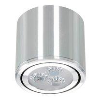 Dimbare Cilinder Vormige LED Opbouw Spot Zilver