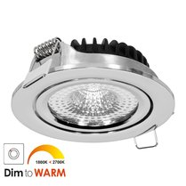 230 Volt LED Inbouwspot Chroom