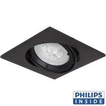 Philips GU10 LED Inbouw spot Vierkant Barcelona Zwart