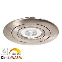 230 Volt LED Inbouw Spot Dimbaar Nikkel | XL