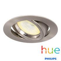 HUE Philips Ambiance GU10 LED Inbouwspot Madrid Satijn Nikkel