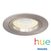HUE Philips Ambiance GU10 LED Inbouw Spot Amsterdam Satijn Nikkel