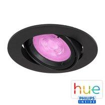 HUE Philips White & Color GU10 LED Inbouwspot Barcelona Zwart