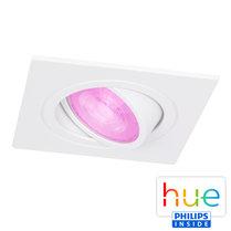 HUE Philips White & Color GU10 LED Inbouw spot Vierkant Inês Wit