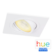 HUE Philips Ambiance GU10 LED Inbouw spot Vierkant Inês Wit