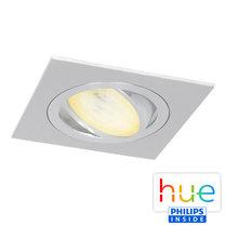 HUE Philips Ambiance GU10 LED Inbouw spot Vierkant Inês Aluminium Geborsteld