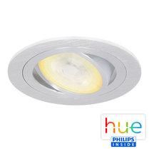 HUE Philips Ambiance GU10 LED Inbouwspot Inês Aluminium Geborsteld