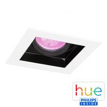 HUE Philips White & Color GU10 LED Inbouw spot Vierkant Sao Paulo Wit