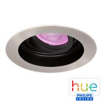 HUE Philips White & Color GU10 LED Inbouw spot Sao Paulo Satijn Nikkel