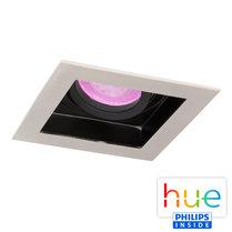 HUE Philips White & Color GU10 LED Inbouw spot Vierkant Sao Paulo Satijn Nikkel