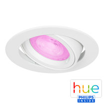 HUE Philips White & Color GU10 LED Inbouwspot Madrid Wit