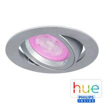 HUE Philips White & Color GU10 LED Inbouwspot Madrid Zilver Grijs