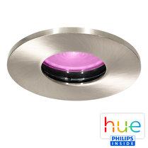 HUE Philips White & Color GU10 LED Inbouwspot Elisa Nikkel