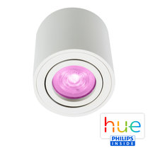 HUE Philips White & Color GU10 LED Opbouwspot Rome Wit