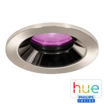 HUE Philips White & Color GU10 LED Inbouwspot Lais Nikkel