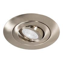 230 Volt Design Inbouw LED Spot Dimbaar Nikkel met Extra Grote Zaagmaat Ø 70 t/m 124 mm