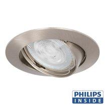 Philips GU10 LED Inbouwspot Parijs Satijn Nikkel
