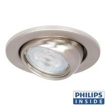Philips GU10 LED Inbouw Spot Bol Rond Aluminium Mat