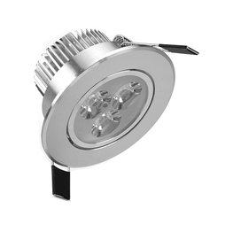 Niet dimbaar LED inbouwspot 3 watt zilver kantelbaar warm wit