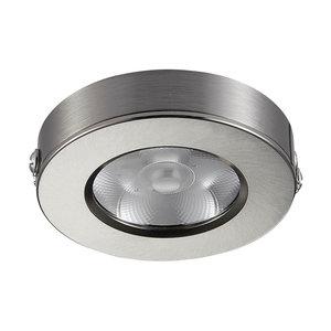 LED Opbouw Spot Dimbaar Badkamer Geschikt IP 44 Extra Warm Wit 2700 Kelvin 5 Watt vervangt 75 Watt Opbouw Hoogte ↕ 20 mm Nikkel behuizing.
