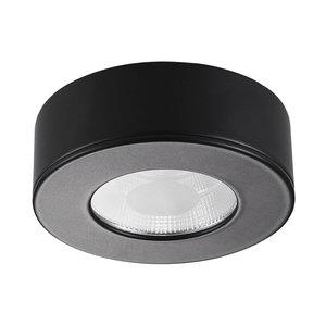 LED Opbouw Spot Dimbaar Badkamer Geschikt IP 44 Extra Warm Wit 2700 Kelvin 5 Watt vervangt 75 Watt Opbouw Hoogte ↕ 30 mm Zwarte behuizing.