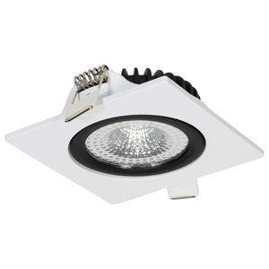 230 Volt LED Inbouw Spot Dimbaar Wit en Zwart